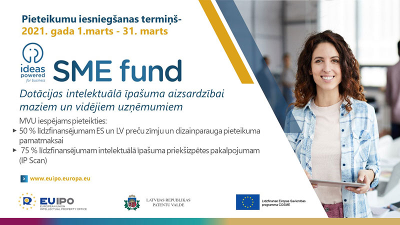 """MVU fonds """"Idejas stiprākam uzņēmumam"""" (Ideas Powered for Business SME Fund)"""